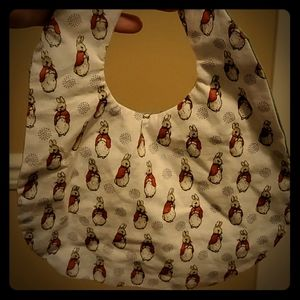 Peter Rabbit sewn and made Bib for baby